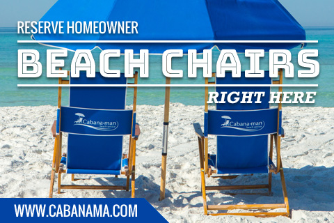 Reserve Homeowner Beach Chairs Right Here!